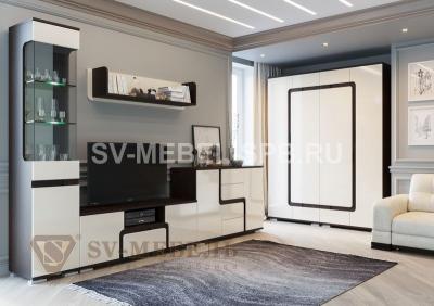 Модульная гостиная Нота-25 Дуб Венге/ Жемчуг