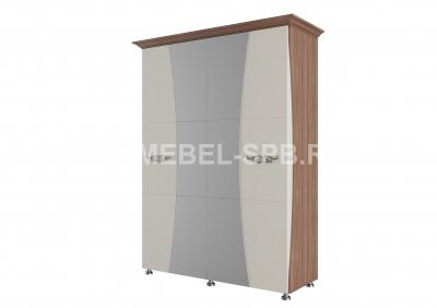 Шкаф для платья и белья 4-х створчатый (1.6м)