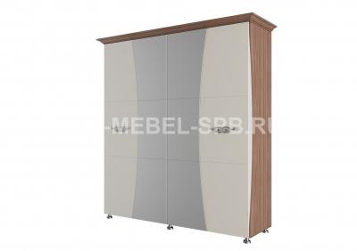 Шкаф для платья и белья 4-х створчатый (2м)