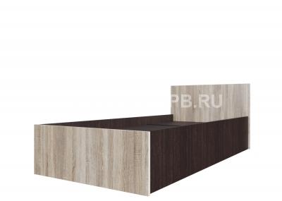 Кровать одинарная (Без матраца 0,9*2,0) Дуб сонома / Дуб Венге