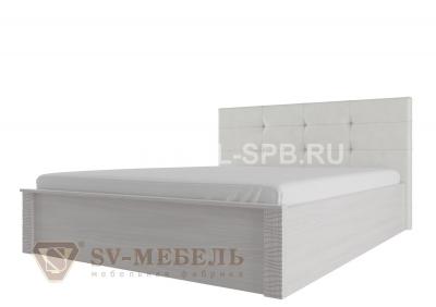 """Кровать двойная универсальная 1,4*2,0 """" с мягким изголовьем Гамма-20"""" Сандал светлый"""