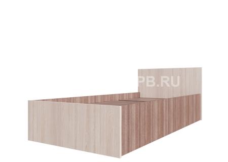 Кровать одинарная (Без матраца 0,9*2,0) Ясень Шимо