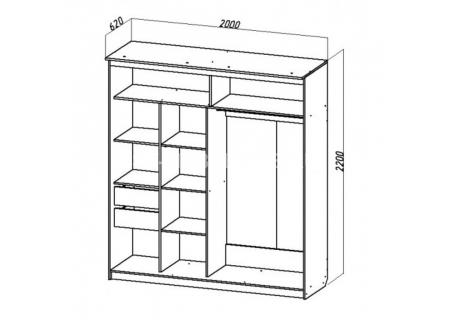 Шкаф-купе №15 (2,0м) схема