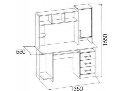 КОМПЬЮТЕРНЫЙ СТОЛ-6 схема