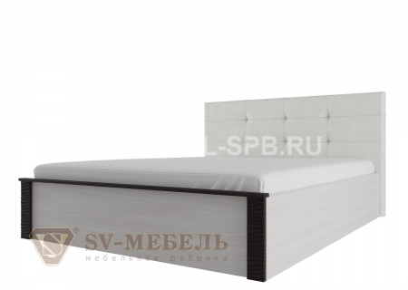 """Кровать двойная универсальная 1,4*2,0 """" с мягким изголовьем Гамма-20"""" Венге"""