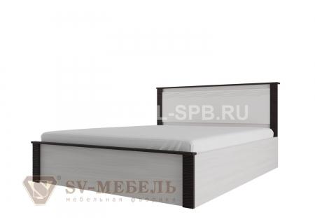 """Кровать двойная универсальная 1,8*2,0 """" с мягким изголовьем Гамма-20"""" Венге"""